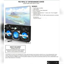 XFORCE PRO Triple 15Entertainment Center 6,000 Watts with Built-In DVD