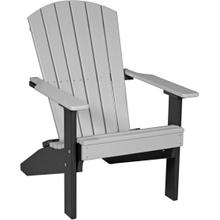 Folding Adirondack Chair Dove Gray and Black