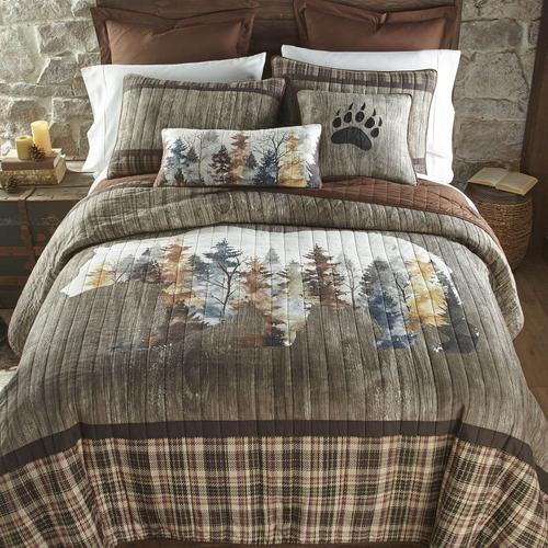 Bear Mirage Queen Quilt Set