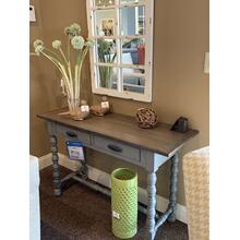 Farmhouse Blue Accent Table