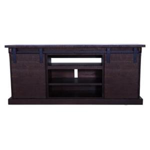 "TS3565 60"" Dark Chocolate Barn Door Console"