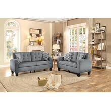 Sinclair- Gray Sofa and Loveseat