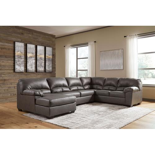 Alberton - Gray - 3-Piece Sectional with Left Facing Chaise