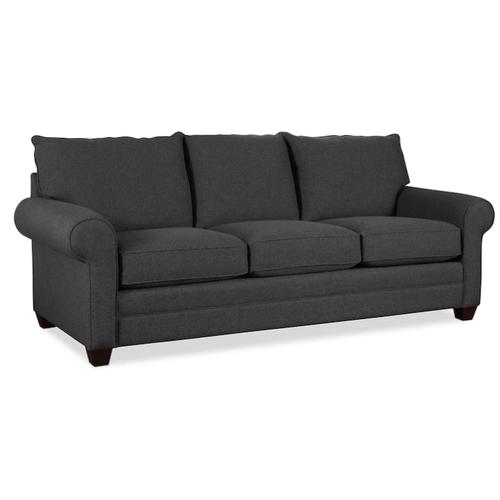 Bassett Furniture - Alex Roll Arm Sofa - Charcoal