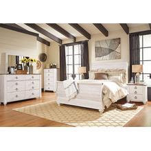 Willowton - Queen Sleigh Bed, Dresser, Mirror, 1 x Nightstand