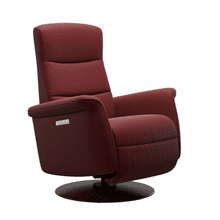 See Details - Mike Medium Power Swivel Rocker Recliner with Power Headrest and Lumbar