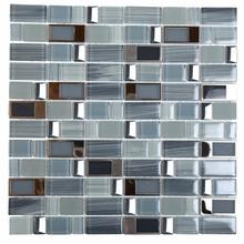 BLK01 Blends Glass Mosaic - BLUE with Stainless Buckles