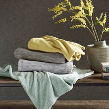 See Details - Marled Fleece Blanket - King (Aqua)