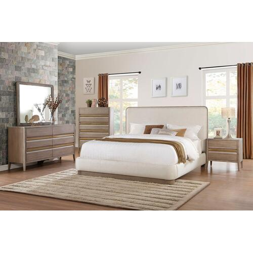 Aristide Qn Bed, Dresser, Mirror and Nightstand