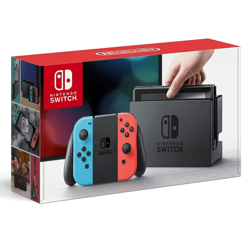 Nintendo Switch With Neon Controls