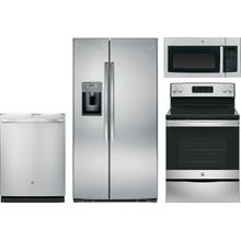 See Details - GE Stainless Steel Package with Side by Side