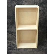 Cube2 Maine Made Double Cube 14.5W X 28.25H X 11.25D Pine Unfinished