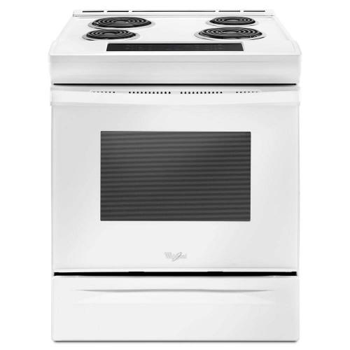 Whirlpool 4.8CF White Electric Coil Top with Self Clean