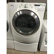 USED Silver Metallic-on-White Whirlpool® Duet®. ft. Dryer