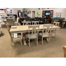 Taupe Grey Dining Room Table with 6 Chairs