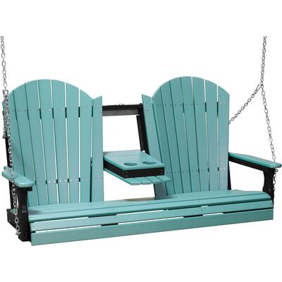 Adirondack Swing 5' Aruba Blue and Black
