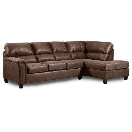 Mocha Brown Two Piece Sectional