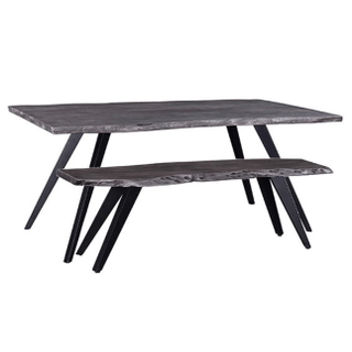 Gray Live Edge Dining Table