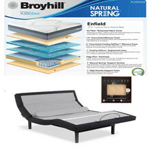 Leggett & Platt Prodigy Comfort Elite Adjustable Bed, Broyhill Enfield Hybrid Mattress, and Set of Dreamfit Sheets