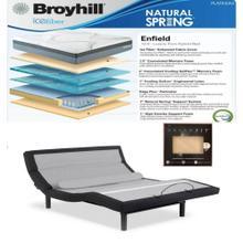 See Details - Leggett & Platt Prodigy Comfort Elite Adjustable Bed, Broyhill Enfield Hybrid Mattress, and Set of Dreamfit Sheets