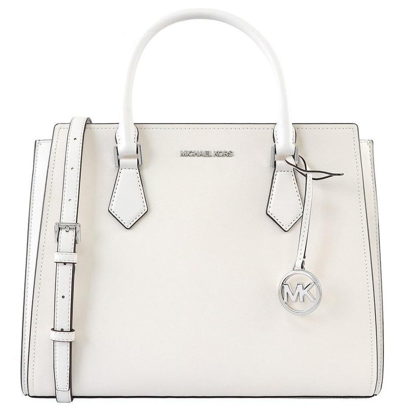 View Product - MICHAEL KORS Plain Leather Crossbody Handbags - White