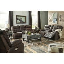 Welsford- Walnut Power Reclining Sofa and Loveseat w/ Adjustable Headrest