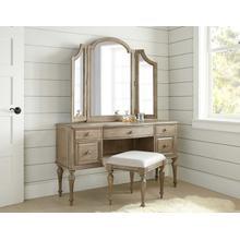 See Details - Highland Park 5 Drawer Vanity, Mirror and Bench Set