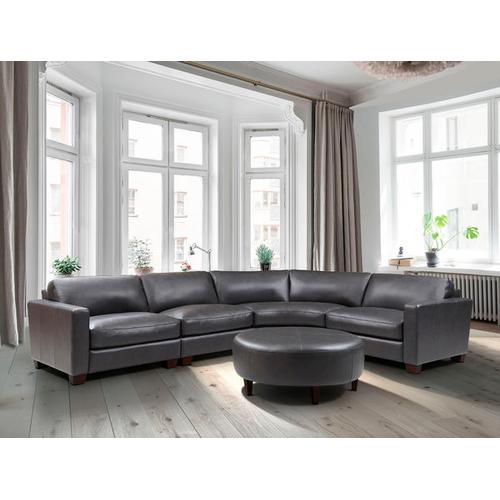 Product Image - Brent 4-Piece Charcoal Leather Sectional