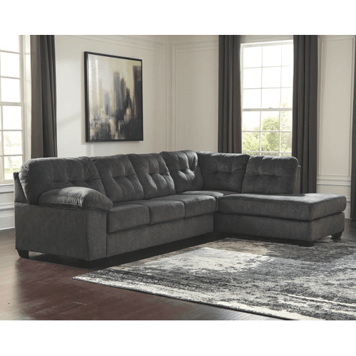 Accrington - Granite - 2-Piece Sectional with Right Facing Chaise