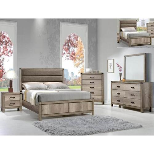 Matteo Qn Bed, Dresser, Mirror, Chest and Nightstand