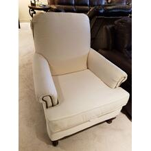 Oyster Charisma Chair with Nail Head Trim
