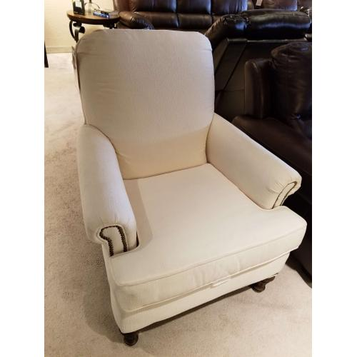 Flexsteel - Oyster Charisma Chair with Nail Head Trim