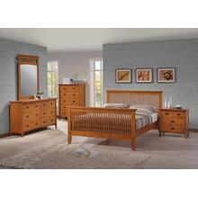 MISSION KING BED FRAME - HONEY OAK