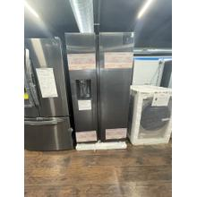 See Details - **ANKENY LOCATION** 27.4 cu. ft. Large Capacity Side-by-Side Refrigerator in Black Stainless Steel**BRAND NEW ITEM**