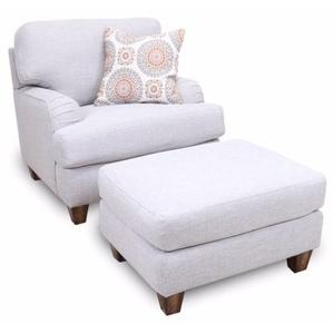 Brianna Accent Chair in Paradigm Mineral with Pillow in Brianne Marmala