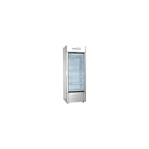 PREMIUM 9.0 cu. ft Single Door Commercial Refrigerator Beverage Cooler in Gray