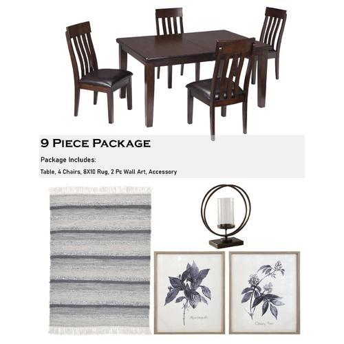 Haddigan 9 Piece Dining Room Package