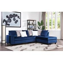 Cindy - Reversible Sectional - Blue