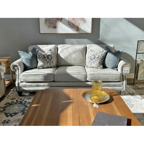 Mayo Furniture - Zenith Fog Sofa with Nailhead Trim Style#4300F10