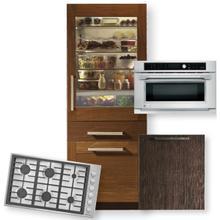 30-Inch Integrated Glass Door Refrigerator 3-Piece Package- Open Box