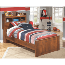 Barchan- Medium Brown- Twin Bookcase Bed