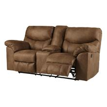 See Details - Ashley Boxberg Double Reclining Loveseat with Console in Bark