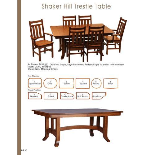 Door County Furniture - Shaker Hill Table