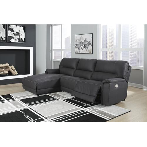 Henefer Power Reclining Sectional Sofa W/Adjustable Headrest/LAF Chaise