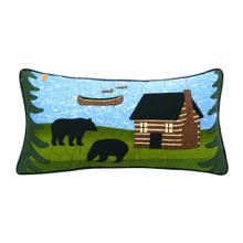 "Bear River ""Rectangle"" Throw Pillow"