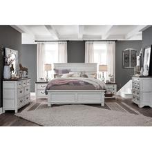 King Bed, Dresser, Mirror and Nightstand