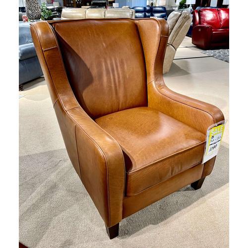 Soft Line - Dream Italian Leather Chair in Tobacco