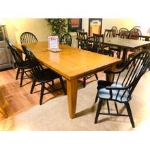 7pc Oak XLarge Rectangular Leg Table w/2 arm & 4 side chairs       (17-T4408-C4051/50,LIBERTY-TREA)