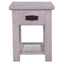 NV2424 End Table W/mesh shelf