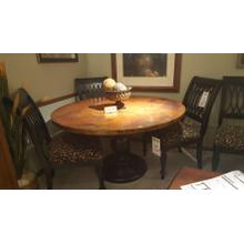 """See Details - Copper Top Table (54"""" diameter) with Solid Maple Base and 4 Solid Maple Side Chairs"""